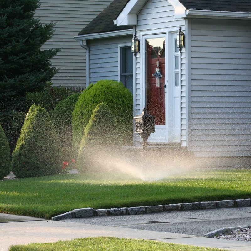 home with sprinkler system