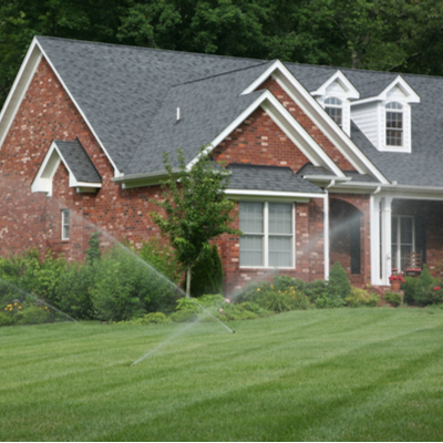 home with sprinklers